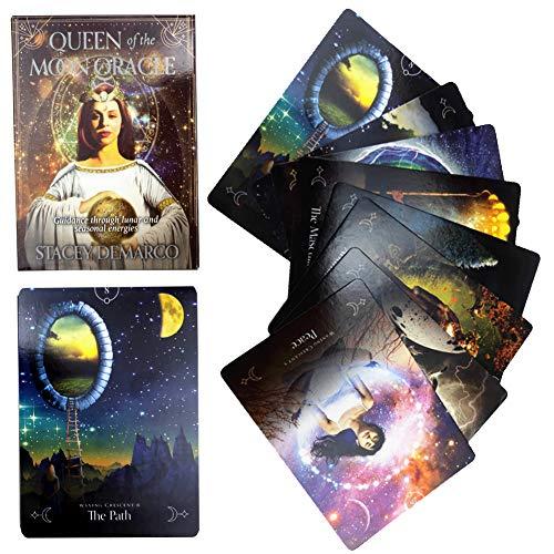 leader Tarot-Karten, Königin Der Mond Oracle-Karten, Englisches Spaß Tarot-Spiel-Karten Für Party Entertainment-Brettspiel-Karten 44PCS