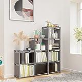Jukert DIY Adjustable Bookcase, 9 Cube Storage Book case, Kids Bookshelf Bookshelves, Toy Organization Organizer Shelf Home Furniture Cabinet