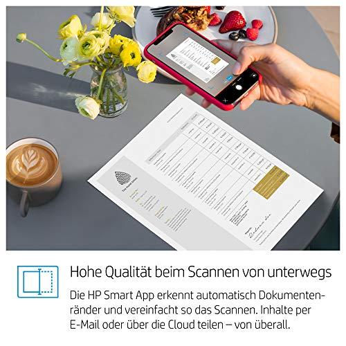HP Tango X Smart Home Drucker (HP Instant Ink, WLAN, Bluetooth, integrierte Sprachsteuerung, graues Wrap Pad, mit 6 Monaten Instant Ink inklusive) weiß/grau