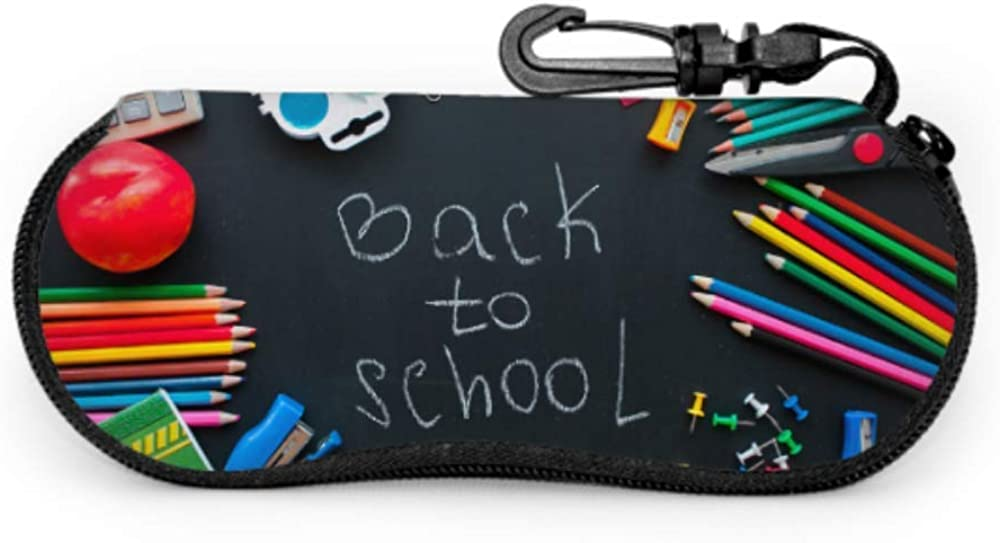 Back To School Education Girl Eyeglass Case Girl Sunglass Case Light Portable Neoprene Zipper Soft Case Men Sunglass Case