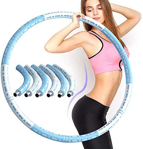 Haojie Hula-Reifenabschnitte für Fitness-Reifen-Fitness-Reifen-Fitness-Wellen für Gewichtsabnahme und -Massage, Fitnesskreis, Erwachsener und Abnehmbarer Reifen für Erwachsene und Kinder