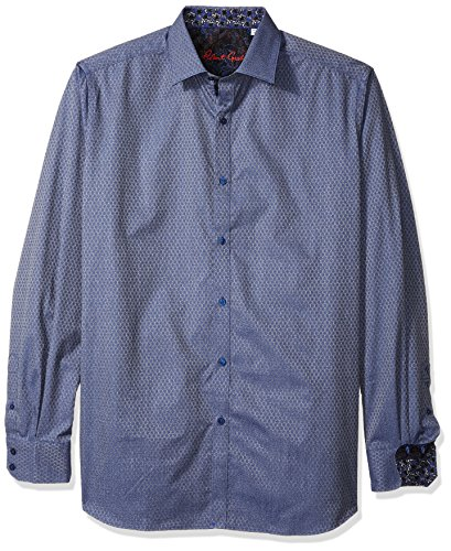 Robert Graham North Creek - Playera de Ajuste clásico para Hombre, Azul, 5X-Large-Alto