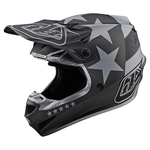 Troy Lee Designs Adult | Offroad | Motocross | SE4 Polyacrylite w/MIPS Freedom Helmet (Black/Gray, Medium)