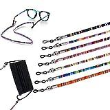 Correa de anteojos Androxeda, retenedor de gafas, paquete de 7, gafas de sol, gafas de lectura, correa de sujeción, cordón de cadena para gafas