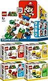 Bundle Lego® Super Mario™ 5er Set 71360 71370 71371 71372 71372 Abenteuer mit Mario™ – Starterset + Vier Anzüge: Feuer, Propeller, Katzen & Baumeister