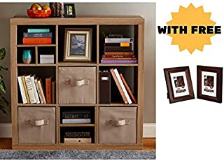 Better Homes and Gardens 9-cube Organizer Storage Bookcase Bookshelf Cabinet Divider Multiple Colors - Weathered