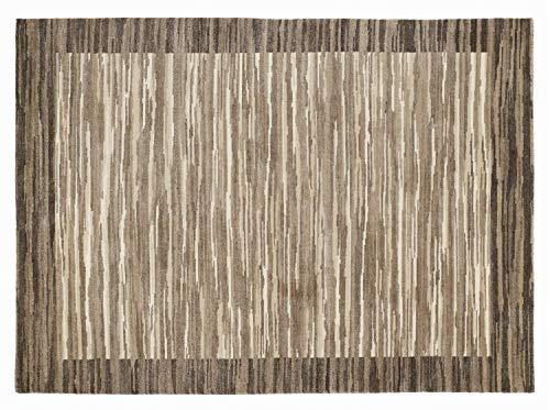 Bambu Leeuw handgeweven Nepalese tapijt in natuurlijke kleur, afmeting: 70 x 140 cm.
