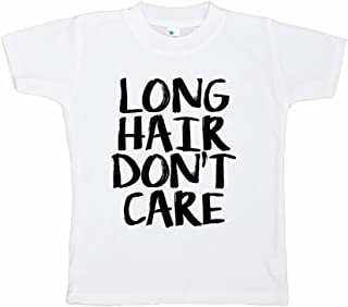 7 ate 9 Apparel Funny Kids Long Hair Don't Care T-Shirt