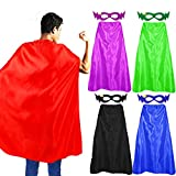 D.Q.Z Superhero-Capes and Masks for Adults...