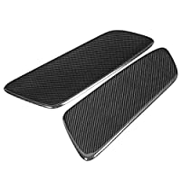 カーインテリアの装飾 ステッカー 2个カーボンファイバーカーリアシートインテリアパネルは、フォードマスタング2014 2015 2016 2017 2018すべてのモデルアクセサリーのために適合します