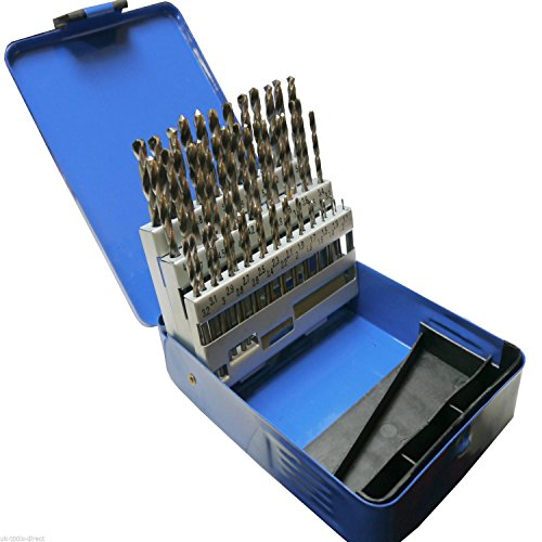 Yaootely 51pc Engineering Drill Bit Set Hss 1-6mm in 0.1mm Increments