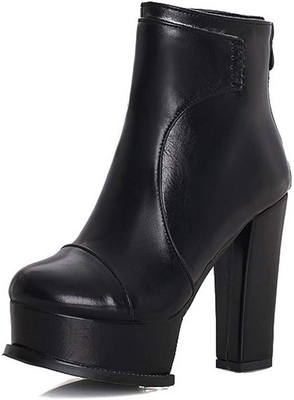 1TO9 Womens Chunky Heels Platform Urethane Boots MNS03306