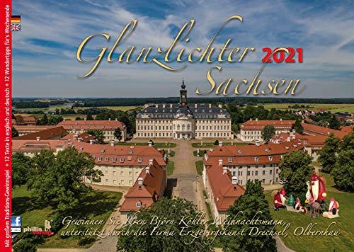 Glanzlichter Sachsen 2021: mit Texten + 12 Wandertipps für`s Wochenende + Gewinnspiel + Postkartenserie