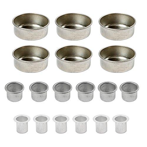 BODA Creative Kerzenhalter Teelichthalter aus Metall, Mix-Set, 18-TLG.