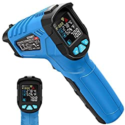 Infrared Thermometer, Acegmet Infrared Thermometer Gun (Not for Human) Non-Contact -58?~1022? (-50? ~ 550?) Adjustable Emissivity with Color LCD Screen Digital Temperature Gun Alarm Setting for BBQ