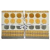 Homescapes moderner Chenille Teppich Läufer grau senfgelb 66 x 200 cm Circles & Stripes Küchenläufer - 6