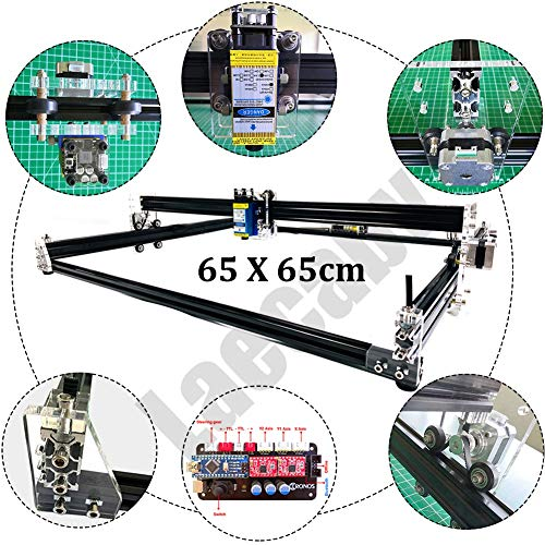 Todo Metal 65X65cm Máquina de grabado CNC Mini Fresadora Router 2 ejes GRBL DIY Desktop Cutter Wood Router Cutter