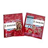 Zi Xi & Zi Qi New Mylar Bags Edible Packaging Smell Proof Resealable Foil Bags Safe Plastic Aluminum Material/Empty bag (Tri-red, 25)