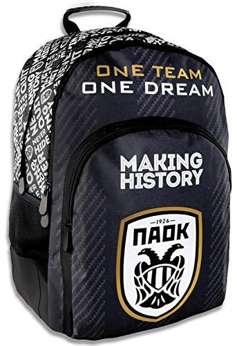 Diakaki Rucksack Kinder Schulrucksack Freizeitrucksack PAOK Saloniki Fußball Verein