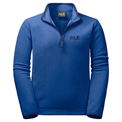 Jack Wolfskin Kinder Gecko Kids Outdoor Elastisch Atmungsaktiv Leichter Fleecepullover, blau (coastal blue), 140