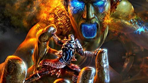 XYDH 1000 Piezas Rompecabezas De Tablero De Madera,Videojuego God of War II Obra de Arte de Juego de Rompecabezas para Adulto, Juego de Rompecabezas y Juego Familiar/75 * 50CM