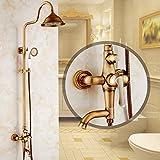 lalaky rubinetti per lavandini bagno rubinetto cucina monocomando miscelatori da cucina lavabo bagno rubinetto lavabo per cucina y bagno doccia girevole anticata vintage interamente in rame