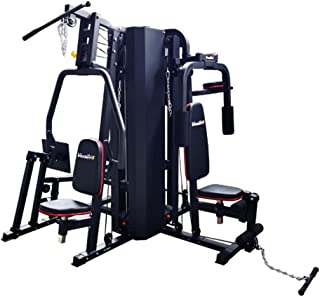 VolksGym 5-Station Multi Gym withLeg Press, Weight Stack : 140 Kgs