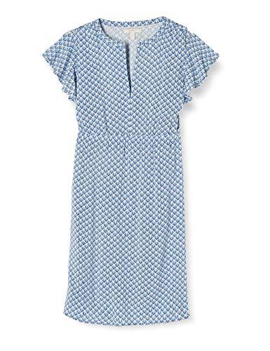 ESPRIT Maternity Damen Dress WVN Nursing Ss Kleid, Mehrfarbig (Grey Blue 423), (Herstellergröße: 40)