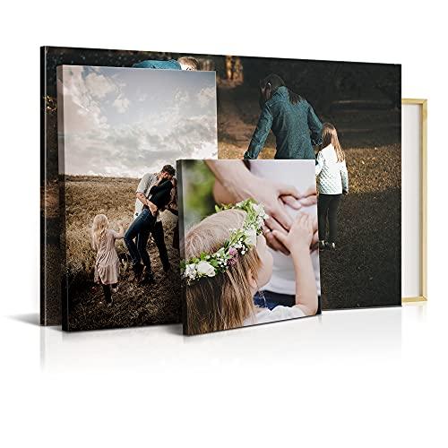 DON LETRA Lienzo Personalizado con Foto, 80 x 60 cm, Varias Medidas, Impresión HD, Cuadro Enmarcado, Decoración Moderna para Salón y Dormitorio, Regalo Personalizado Original