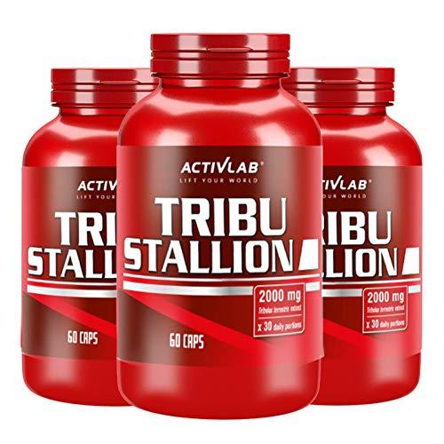 ACTIVLAB TRIBU STALLION | Testosteron-Booster für Männer | Hormonunterstützung | Tribulus Terrestris | Muskelwachstum und bessere Libido (180 Kapseln)