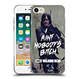 Head Case Designs Officially Licensed by AMC The Walking Dead Daryl Typography Soft Gel Case Compatible with Apple iPhone 7 / iPhone 8 / iPhone SE 2020