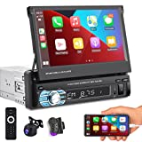 Podofo Car Stereo Single Din with CarPlay and Android...