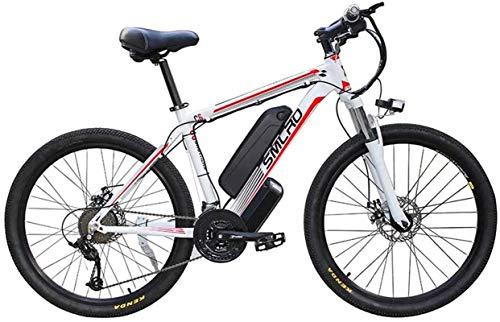 Alta velocidad 26' bicicleta eléctrica de montaña for adultos, 360W Ebike de aleación de aluminio de bicicletas extraíble, 10A batería 48V / litio, 21 velocidad conmuta E-bici de ciclo al aire libre T