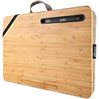 Wishacc Home Office Portable Bamboo Laptop Lap Desk