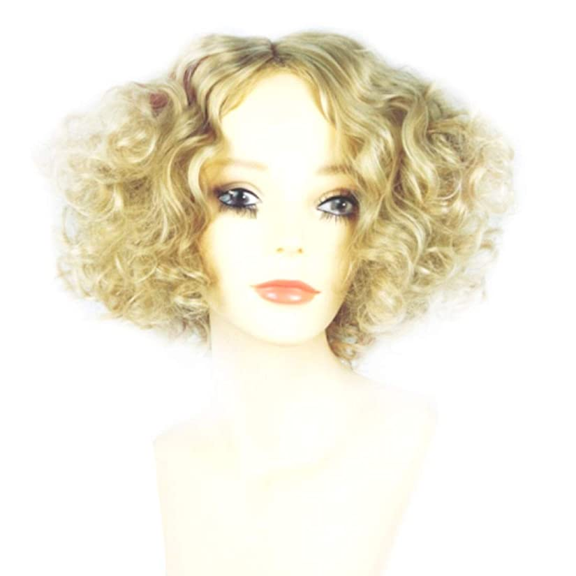 維持知り合いになる同一性Summerys 女性のための短い巻き毛のかつらブロンドのボブの髪かつら自然に見える耐熱合成かつら