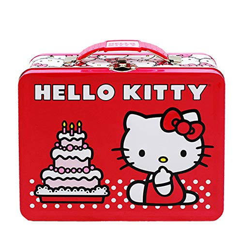 Hello Kitty Birthday Cake Embossed Metal Lunch Box by Hello Kitty