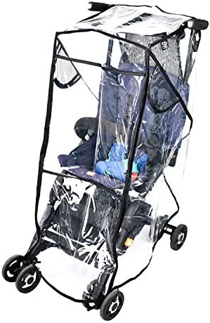 Stroller Rain Cover Stroller Weather Shield Universal Size Waterproof Water Resistant Windproof product image