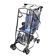 SUPER SIMPLE USE: Stroller Rain Cover installs in seconds, Just Unfold the Cover and Place Over your Stroller, There's Nothing to it! Have straps to hold the rain cover down at the bottom of the stroller. FULL CHILD PROTECTION: Waterproof and durable...