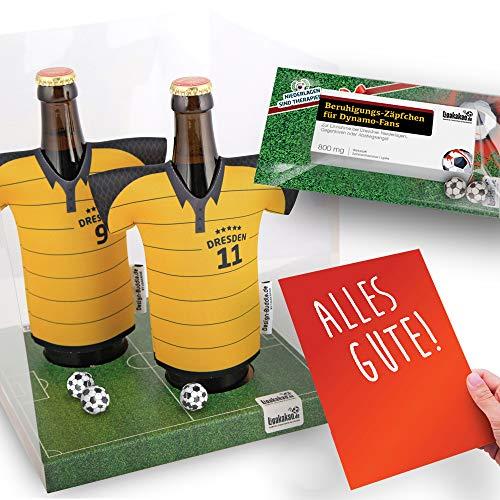 Alles für Dresden-Fans by Ligakakao.de Home-Trikot ist jetzt Mein TRIKOTKÜHLER Geschenk-Set (2X Trikots + 1 ZÄPFCHEN)