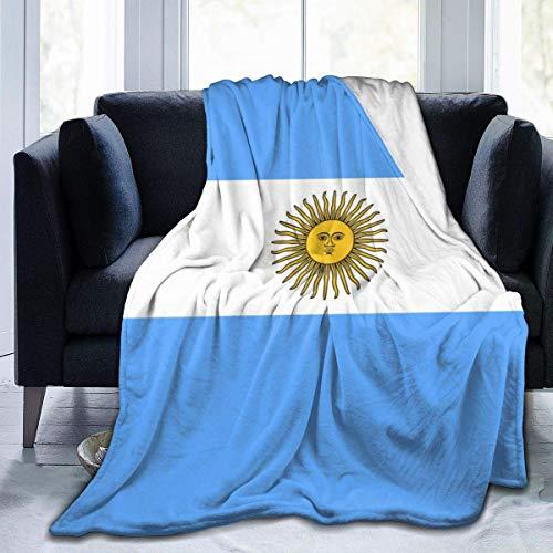 Ahdyr Manta de Forro Polar Bandera de Argentina Microfibra Mantas de Cama Ligeras Mantas de Ropa de Cama súper Suaves Tamaño de Tiro 50x40 60x50 80x60 Pulgadas