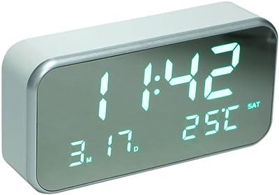 Intelligente Von Einrichtungs Digitale Led-hintergrundbeleuchtung Lcd Display Tisch Wecker Thermometer Kalender Weiß Office & School Supplies