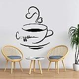 Carta da parati moderna DIY Vinyl Art Tazza di caffè Wall Sticker Creativo Home Decor Ristorante Cafe Decorazione Wall Sticker Murale A7 30x34cm