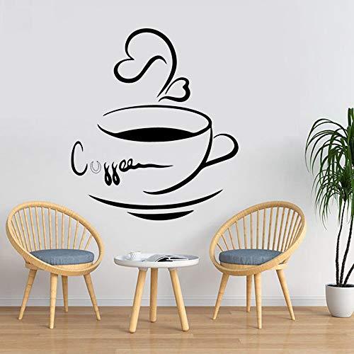 Papel pintado moderno DIY vinilo arte taza de café pegatina de pared decoración creativa para el hogar restaurante café decoración pegatina de pared Mural A2 30x34cm