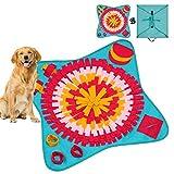 Schnüffelteppich für Hunde,Soft Pet Nase Arbeit Geruch Snuffle Matte ,Faltbarer Filzstoff...
