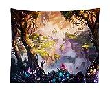 Wandteppich, Wandtuch, Tapestry, Tagesdecke,Indian Wall Hanging, Bed Sheet, Comforter Picnic Beach Sheet, Himmelsschloss, 200x150cm