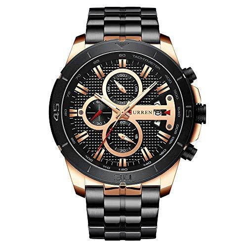 Damen Analog Quarz Uhr,Ultra Dünne Armbanduhr, Einfache Casual Uhren mit Lederarmband für Frauen R6005 (Schwarz 2)