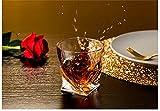 ASXQN Vidrios de 300 mlwhiskey, Vidrio de Moda Premium, Vasos de Gafas escocés para el cóctel de coñac Bourbon, Cristal de Vidrio de Whisky para casa, Bar, Fiesta,6 Pieces