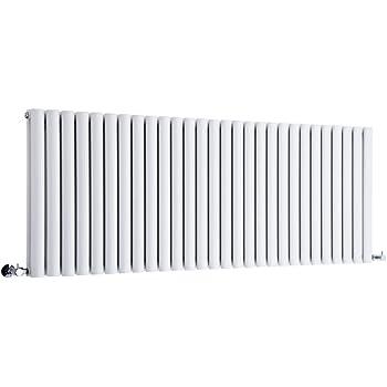 Hudson Reed Radiador Revive Horizontal con Calefacción de Diseño Moderno - Radiador con Acabado en Blanco - Diseño de Columna - 635 x 1647mm - 2609W - Calefacción de Lujo