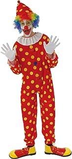 Disfraz de Payaso de Circo Carnaval A Lunares Rojos para Hombres