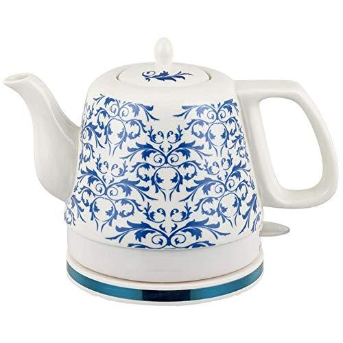 ZSQHD Wasserkocher -Electric Ceramic Cordless Blau und Weiß Porzellan Wasserkocher Teekanne 1.2L Krug kocht Wasser schnell for Tee Kaffee Suppe Haferflocken